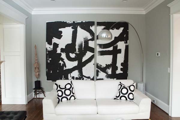 Large Format Canvas Paintings In Residential Decor Drew